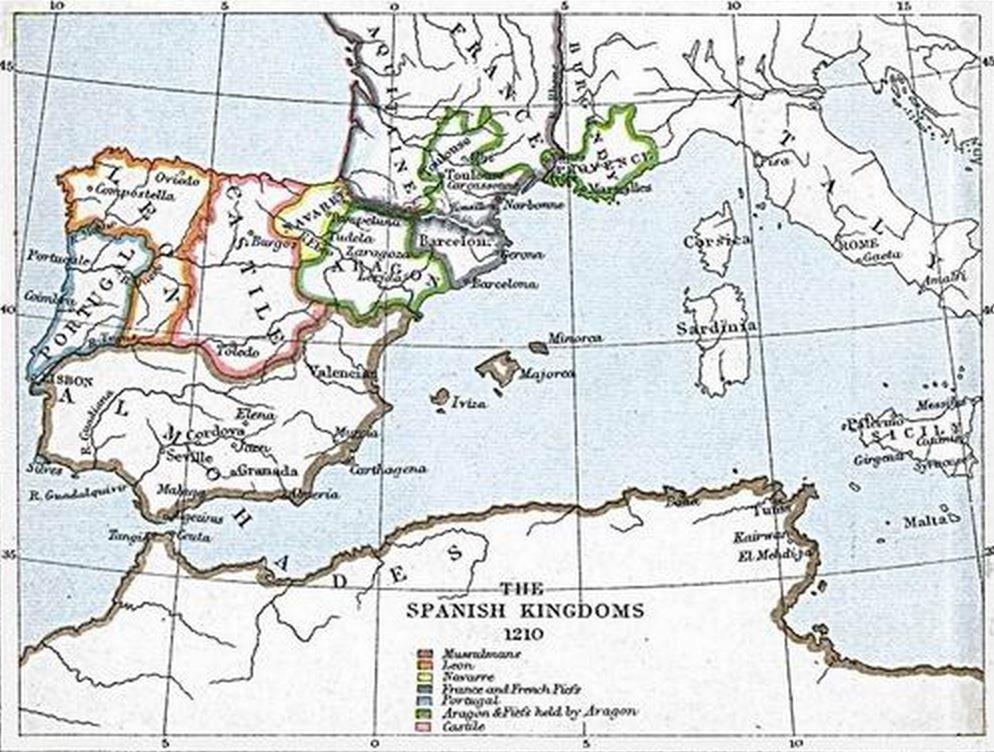 7- Almohades y reinos cristianos de España. Año 1.210